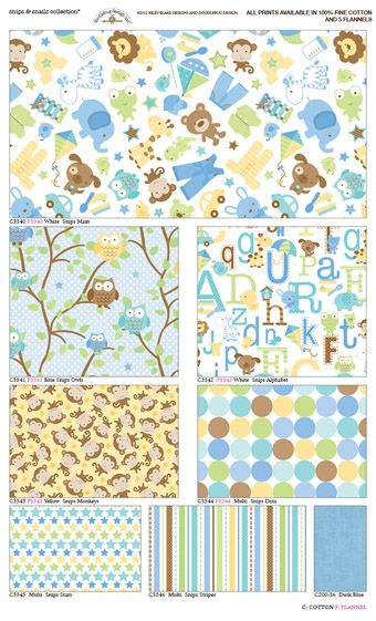 Riley Blake Designs - Snips and Snails Fabric