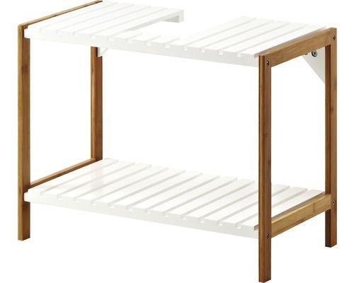 Waschtischunterschrank-Regal Pelipal Jakob 60 cm Bambus\/weiß Bad - badezimmer 60 cm