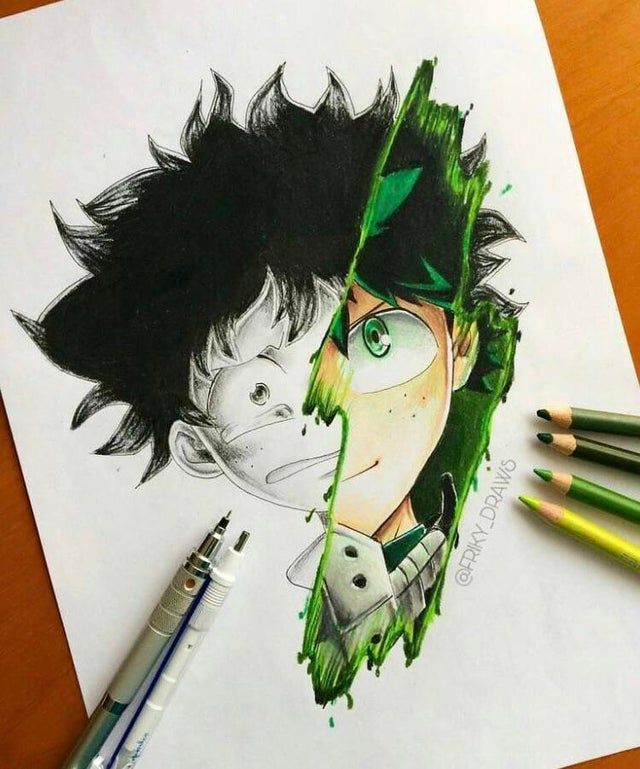 Hey I'm Friky, a new one in his platform. I just wanted to share two drawings of mine about the anime ^^ that's my personal style, hope you like it :3 planning to draw Kirishima next!