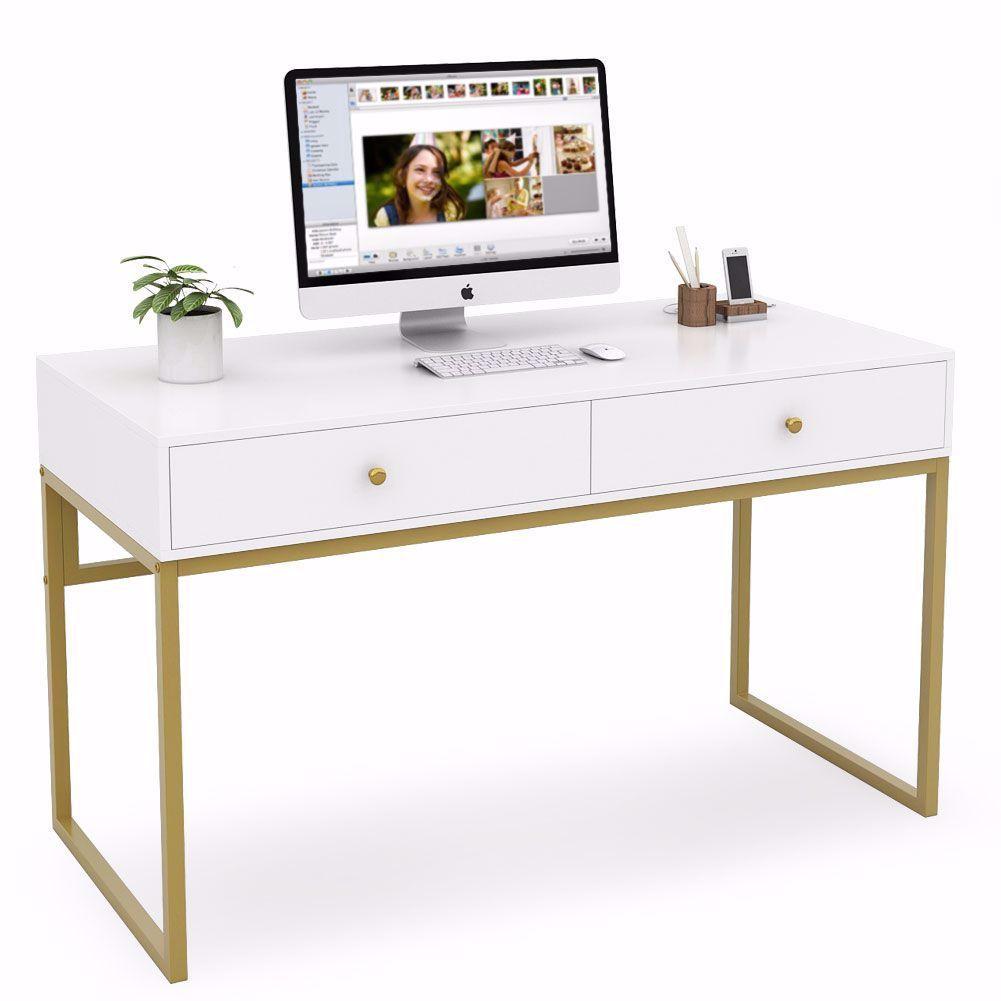 Spacious Desktop Widen Desktop L47 2 X D23 6 Provide Spacious Space To Keep A Computer Laptop Desk With Drawers Home Office Desks Minimalist Desk Design