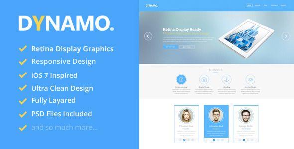 Dynamo - Retina Onepage WordPress Theme - Corporate WordPress ...