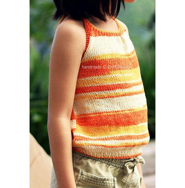 Girl Halter Top - Free Knitting Pattern