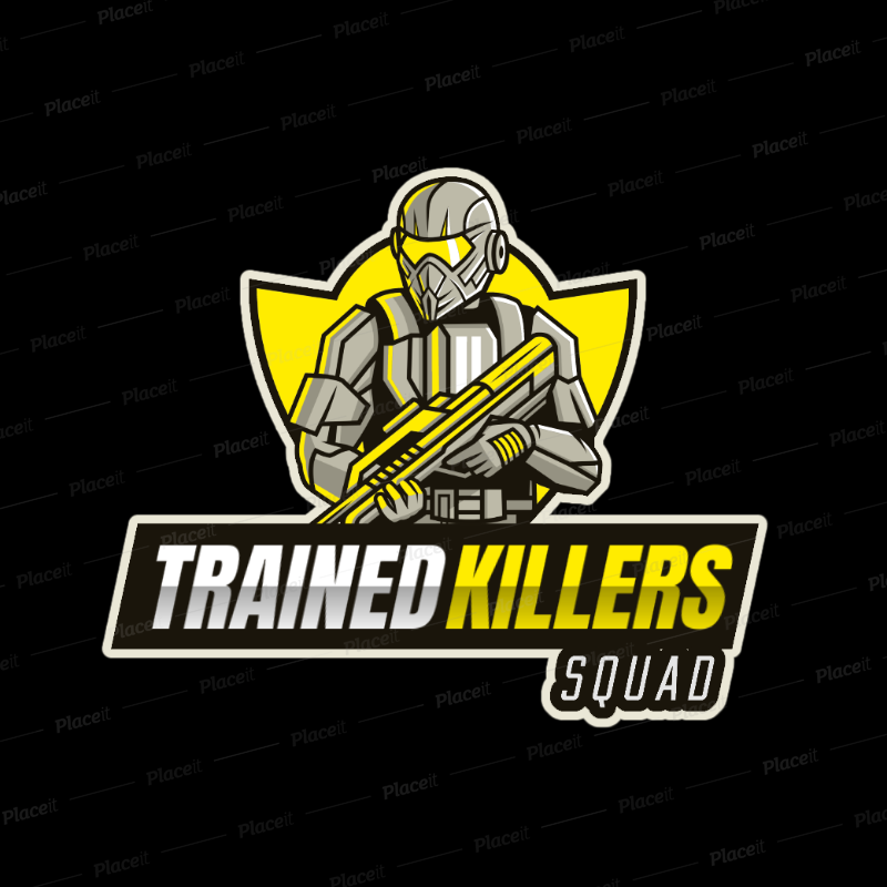 Placeit Gaming Logo Template Featuring an Elite Soldier