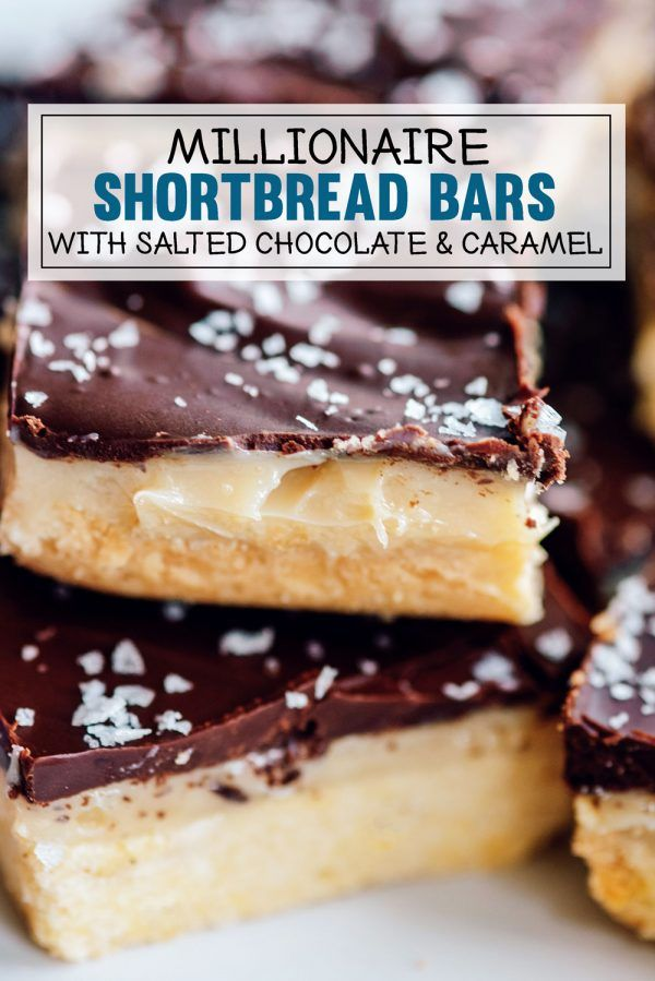 Millionaire Bars Recipe - Chocolate & Caramel Shortbread Dessert