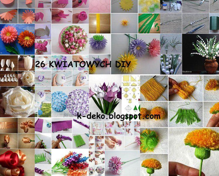 26 Pomyslow Jak Zrobic Kwiaty Z Papieru Materialu Tasiemek Itp Holiday Decor Diy Table Decorations