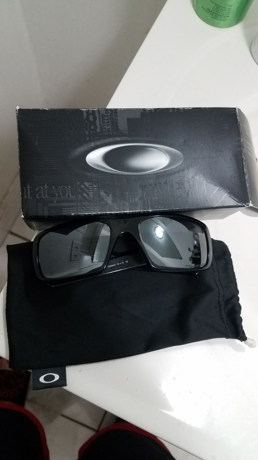 Oakley Crankshaft sunglasses with silver mirror polarized