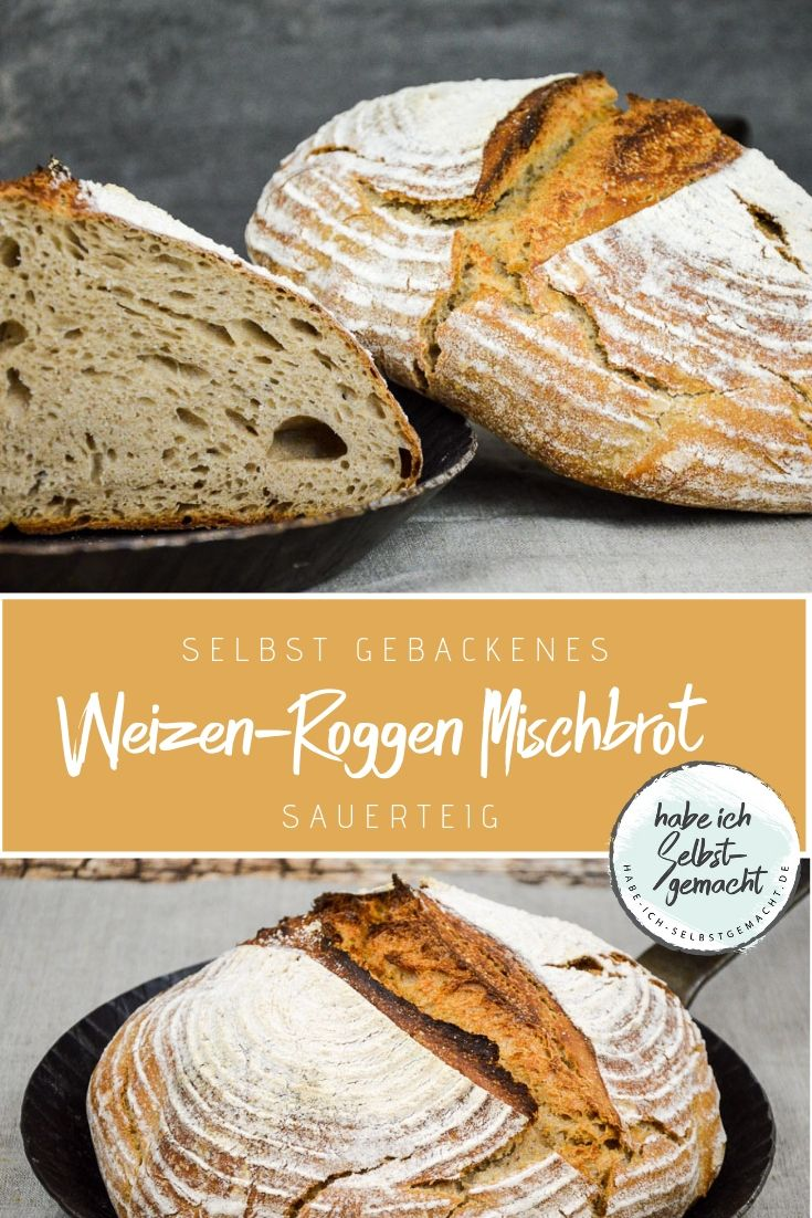 Photo of Mixed wheat and rye bread