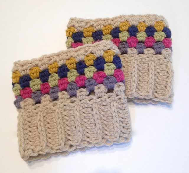 Ravelry: Colorful Boot Cuffs pattern by Stacey Leighty | Crochet ...