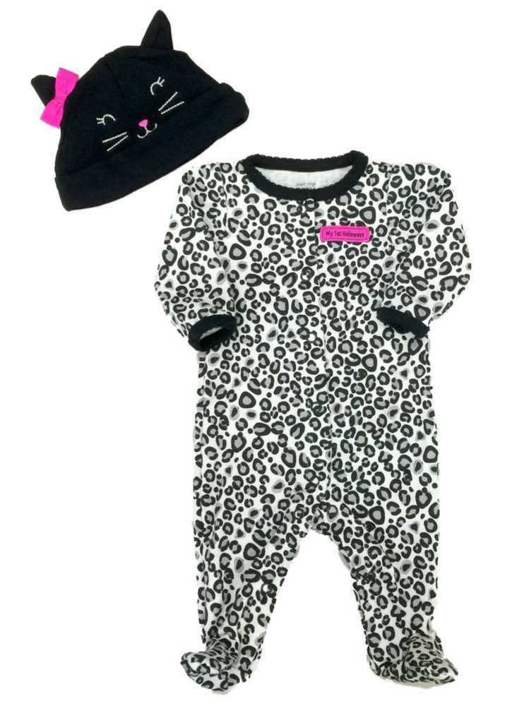 34c707562297 Girls 3 or 9 Months My 1ST Halloween Leopard Kitty Sleep N' Play Hat NEW  #fashion #clothing #shoes #accessories #babytoddlerclothing  #girlsclothingnewborn5t ...
