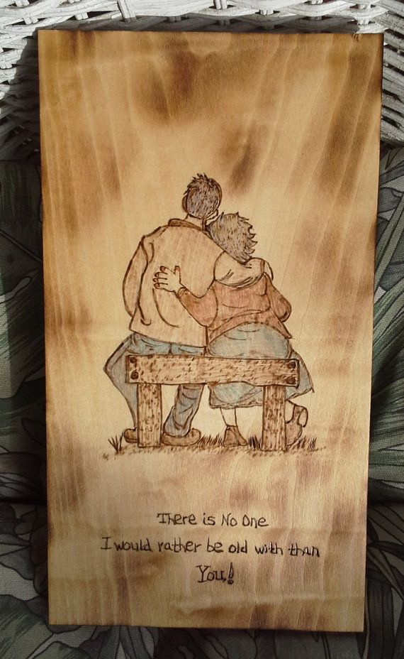 Old People in Love Anniversary Gift by SmolderingCreations