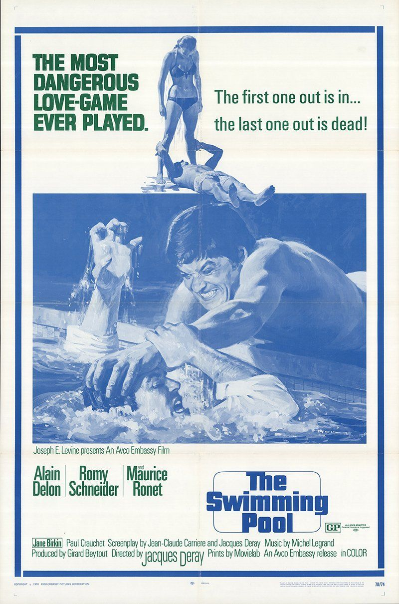 La piscine The swimming pool Alain Delon Romy Schneider movie poster print