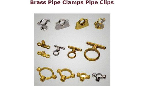 Brass Pipe Clamps Pipe Clips Brasspipeclamps Pipeclips Brasspipe