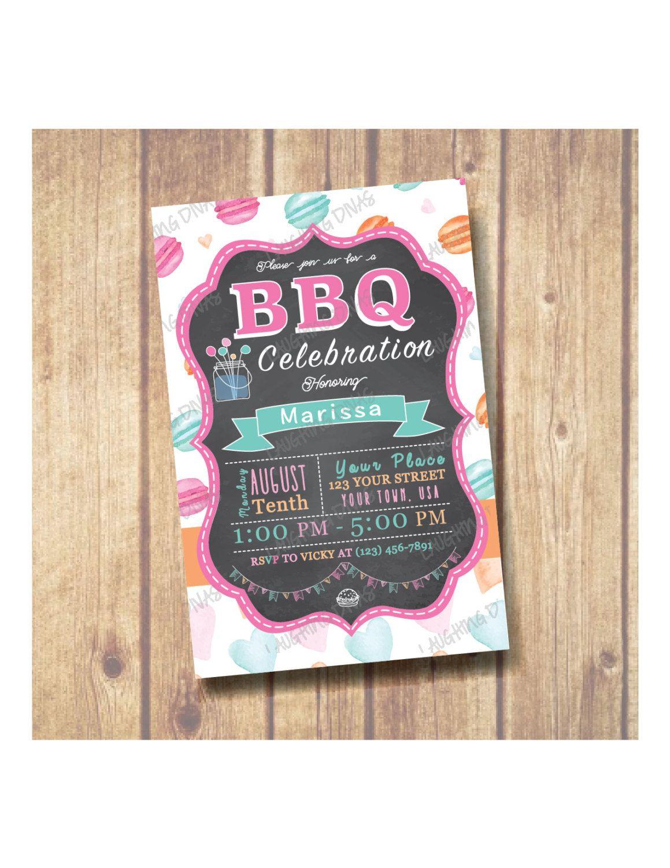 Barbecue (BBQ) celebration Party Invitation by LaughingDivasInvites ...