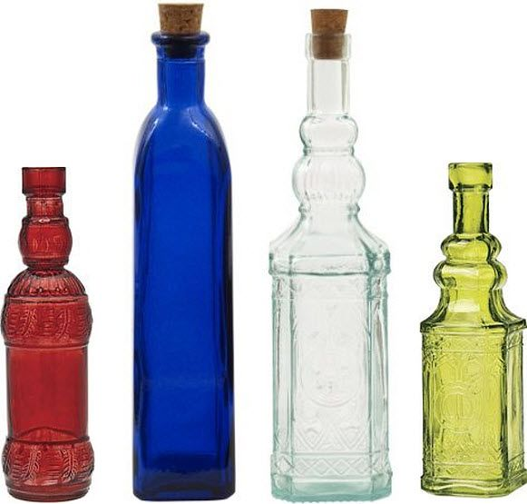 Decorative Bottles With Corks Endearing Decorative Colored Glass Bottles  Glass Bottles With Corks Decorating Design