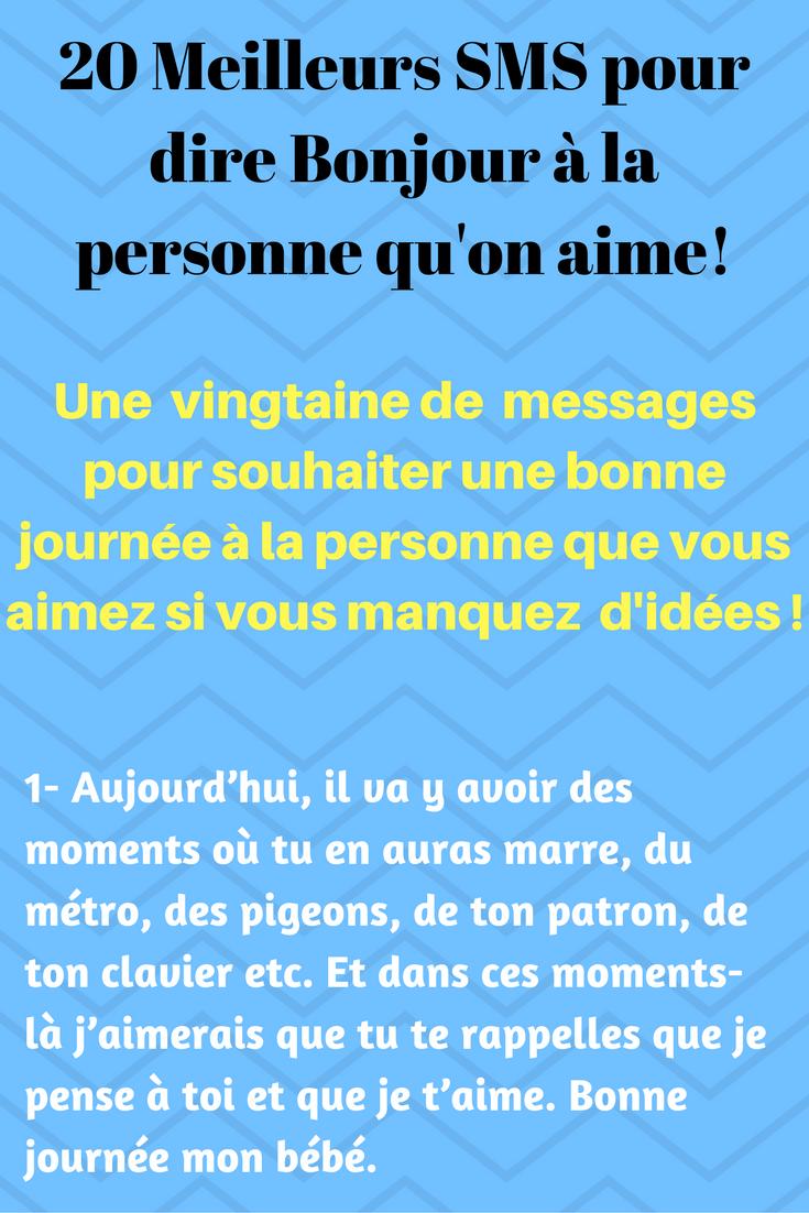 20 Sms Damour Mignons Pour Souhaiter Une Bonne Journée