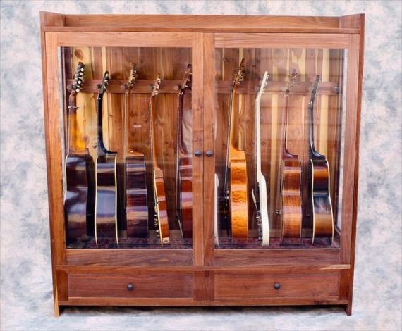 Humidified Display Case To Protect Your Instruments.