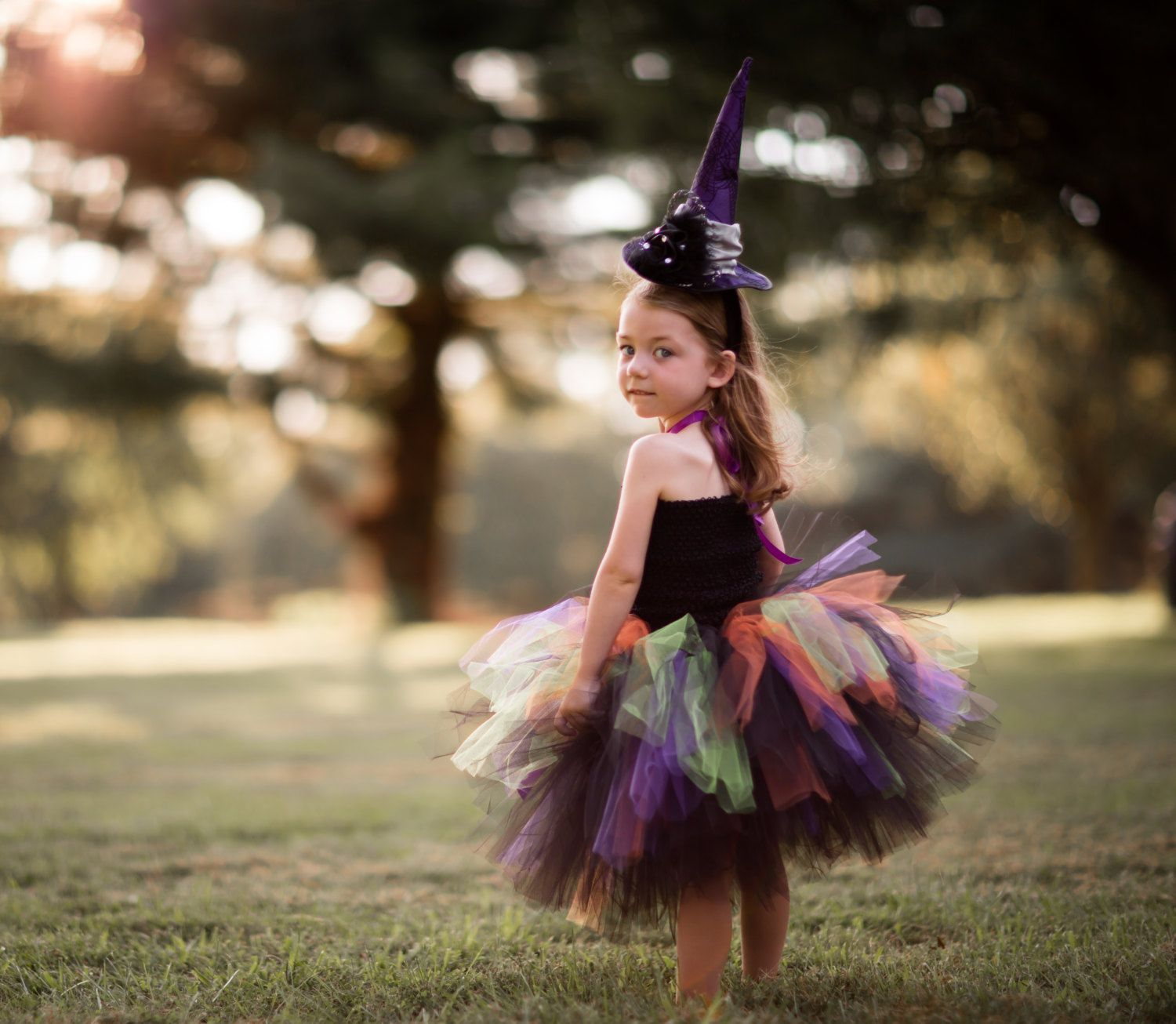 Witch Costume, Girl's Witch Costume, Witch tutu costume, Halloween ...
