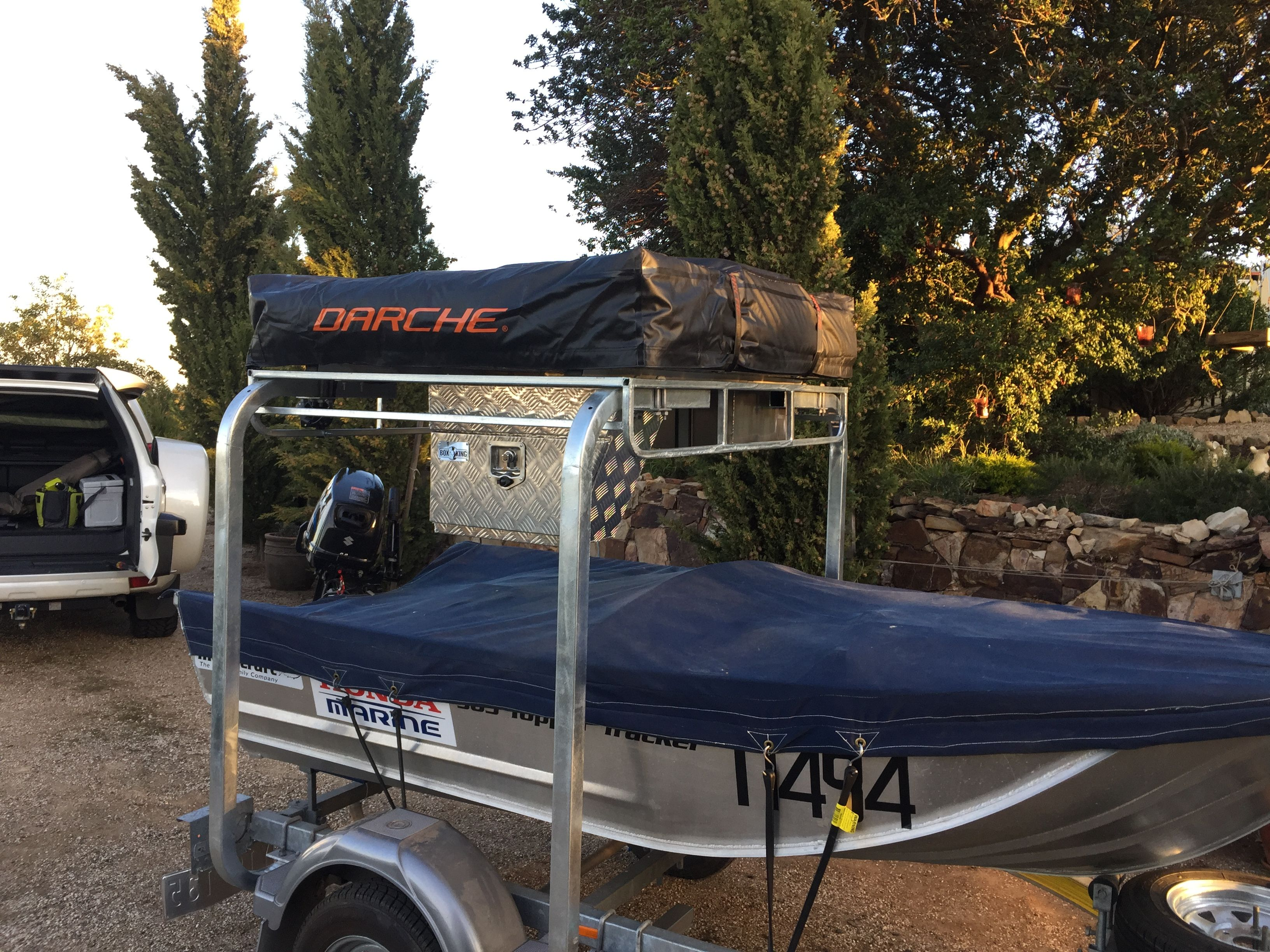Boat Trailer With Roof Top Tent Roof Top Tent Boat Trailer Boat Trailers