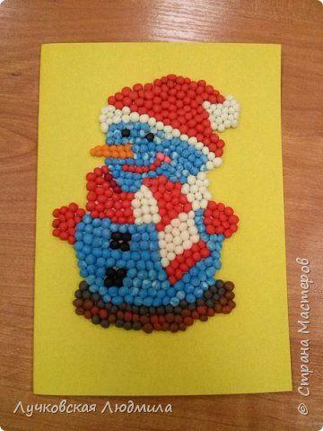 Новогодняя открытка из пластилина, рождеством христовым