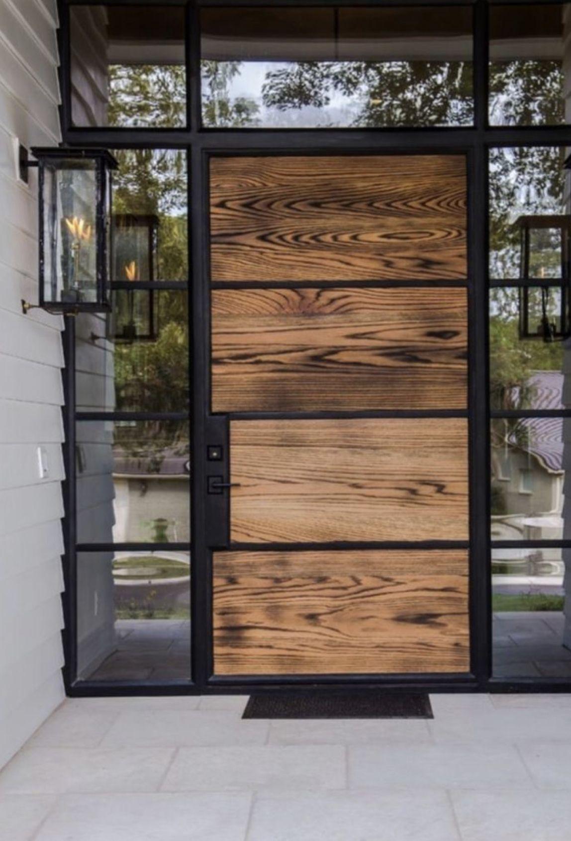 W O O D Fachadas De Casas Terreas Design Exterior Entrada Moderna