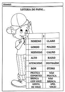 Cantinho Poético e Pedagógico : DIA DOS PAIS - ATIVIDADES