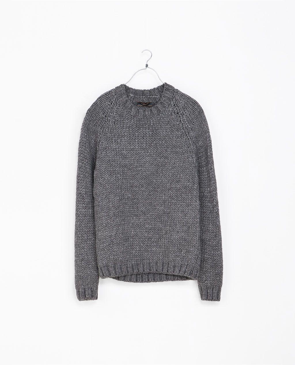 Grof Gebreide Heren Trui.Zara Heren Grof Gebreide Trui Kniting Sweaters Men Sweater