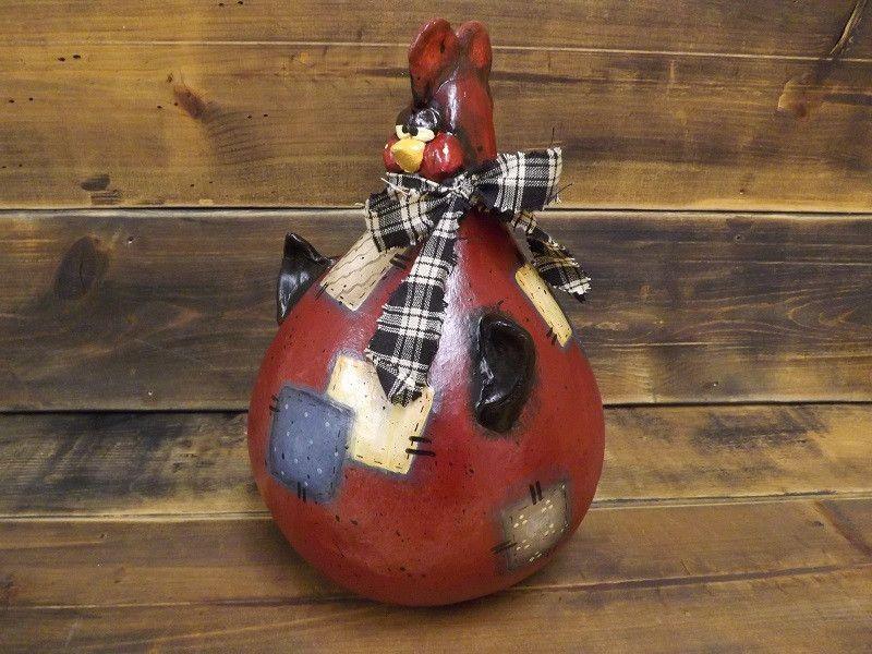 Annie Folk Art Gourd Sculpture