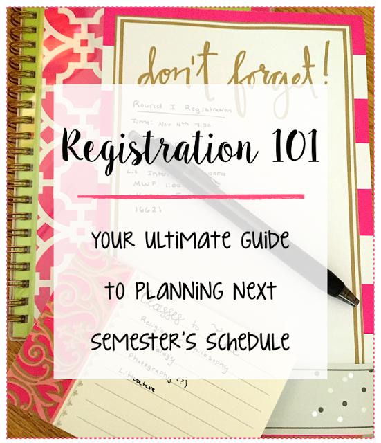 making a college schedule