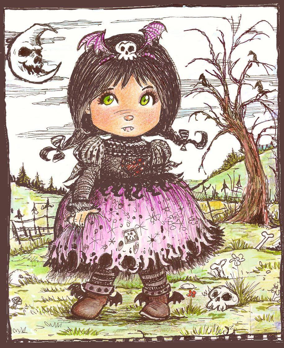 the vampire girl - Una Vampiric - children illustration ...