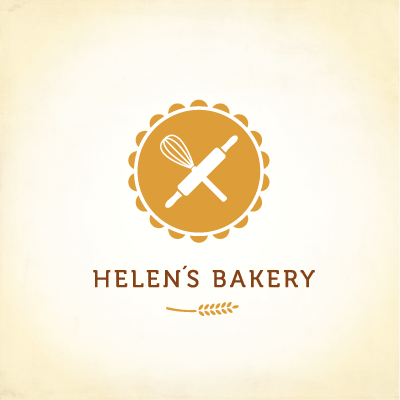 Helen S Bakery Logo Design Gallery Inspiration Logomix Bakery Logo Design Bakery Logo Logo Design