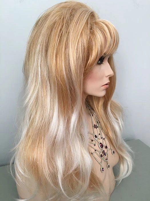 Blonde Wigs Lace Frontal Hair White Blonde Wig With Bangs Wcwigs Front Lace Wigs Human Hair Lace Front Wigs Long Blonde Hair