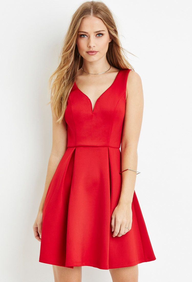 7d55e4e4e74 Pleated A-Line Dress | Forever 21 - 2000165473 | Spark's Alice in ...