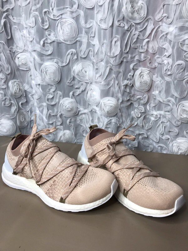 e7b36fbda Size 7.5 for   200.00  http   www.vinted.com womens-shoes sneakers 23257440- adidas-stella-mccartney-75-nude-pure-boost-knit.
