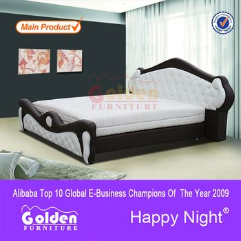 2850 Modern Design King Size Wooden Double Bed With Drawers Of Foshan Factory