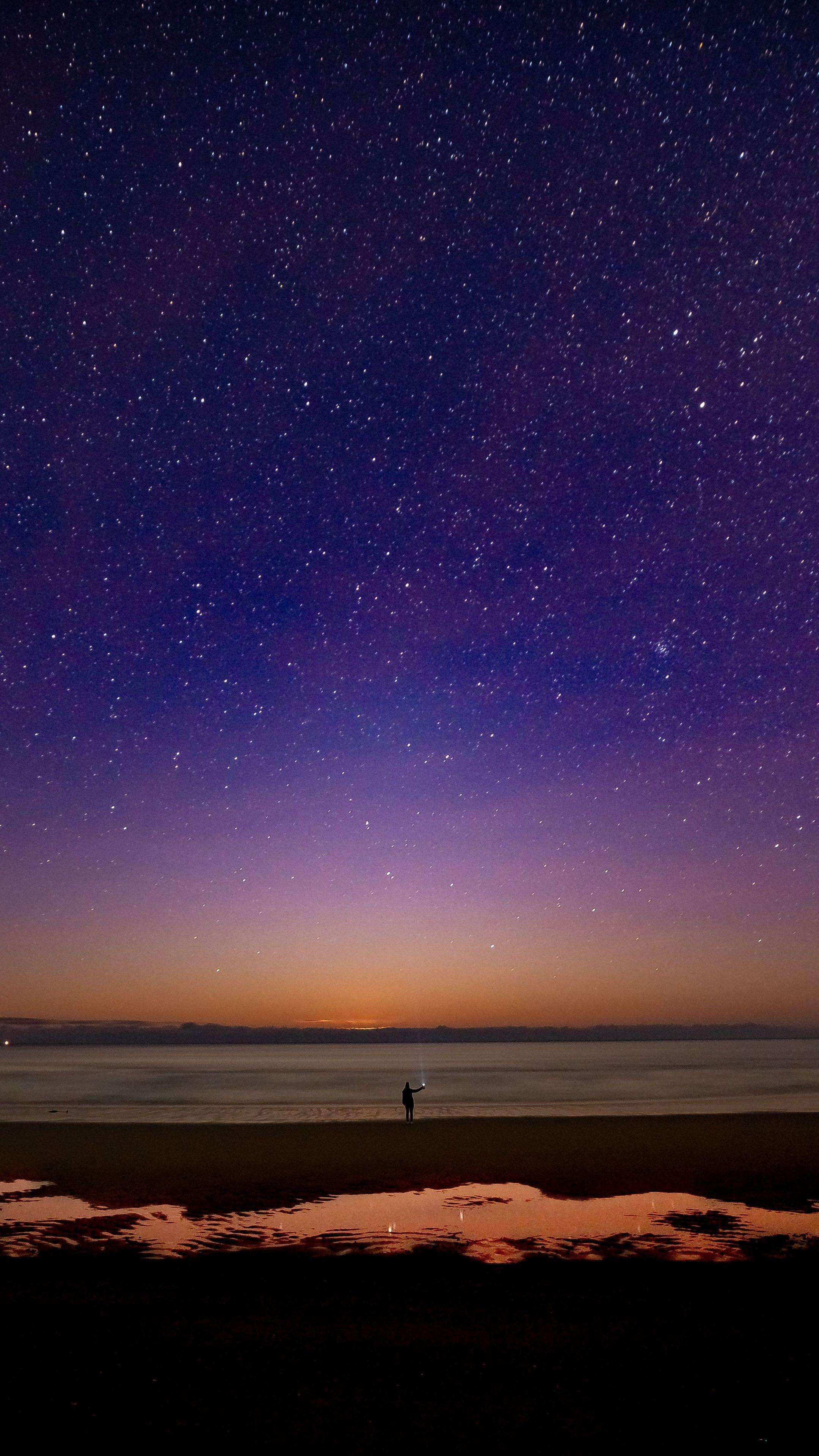2160x3840 Starry night, sky wallpaper in 2020 Aesthetic