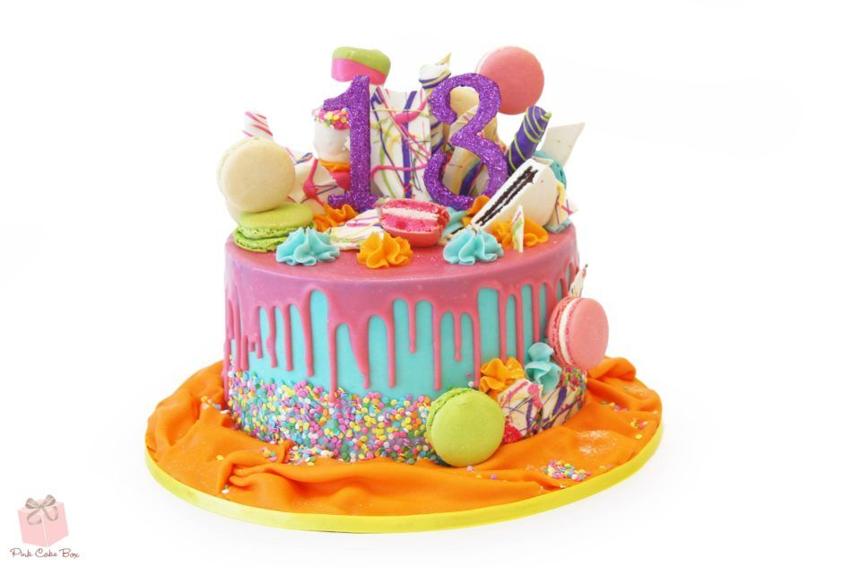 18 Mouth Watering Drip Cake Ideas Pink Cake Box Drip Cakes 13th