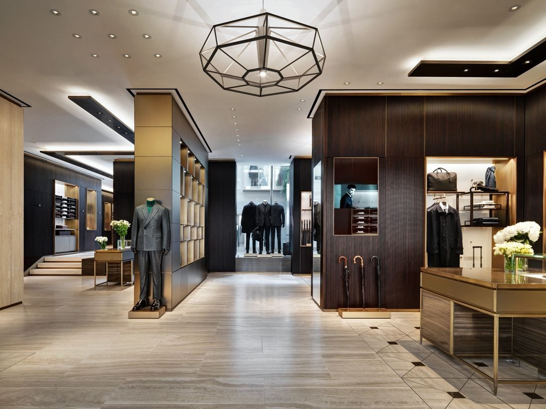 brioni flagship store milano picture gallery light