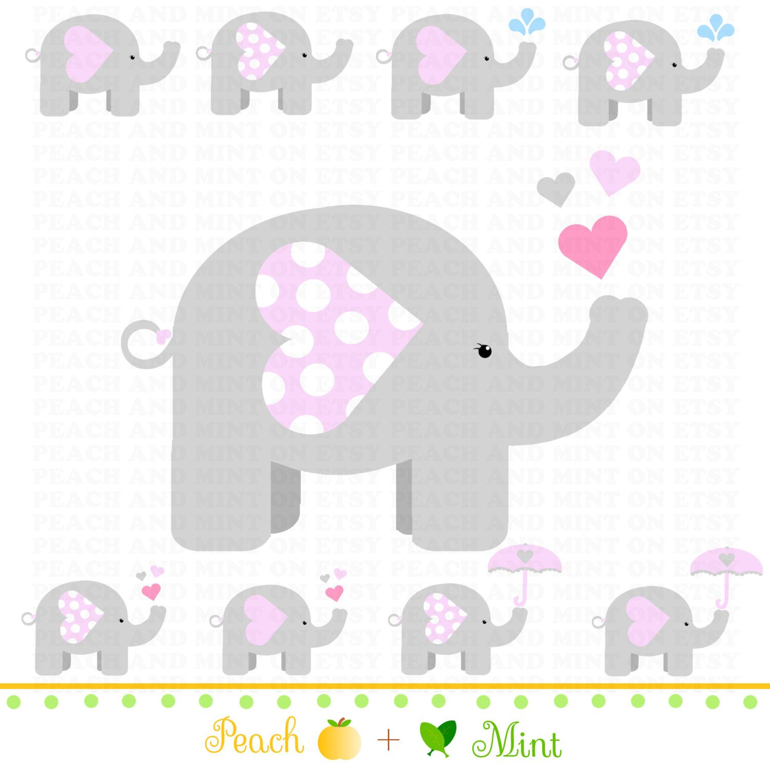 Free Printable Elephants For Corsage In Baby Shower Google
