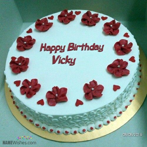 Red velvet cake Vicky birthday cakes Pinterest Red velvet