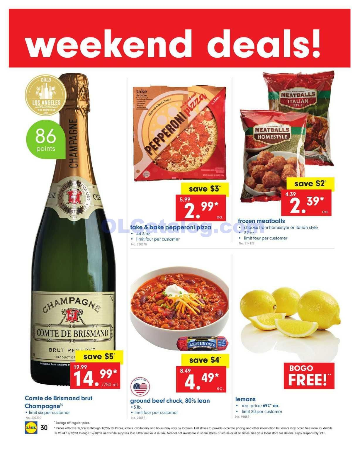 1ad02540f Lidl Weekend Deals December 29 – 30, 2018. Find Latest Lidl Flyer or Lidl  offers Here. You can find the digital coupons, BOGO Free, grocery savings,  ...