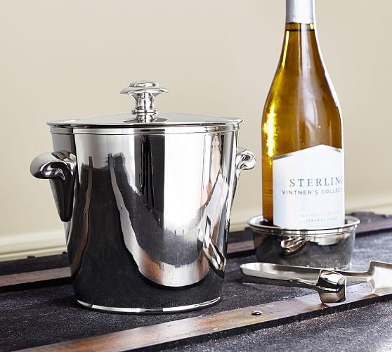 Harrison Ice Bucket With Tongs Ice Bucket Wine Bucket Top Wedding Registry Items