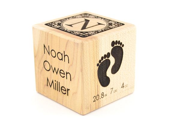 Personalized baby block engraved wooden bock baby keepsake toy personalized baby block engraved wooden bock baby keepsake toy newborn gift adoption cube baby boys first negle Image collections