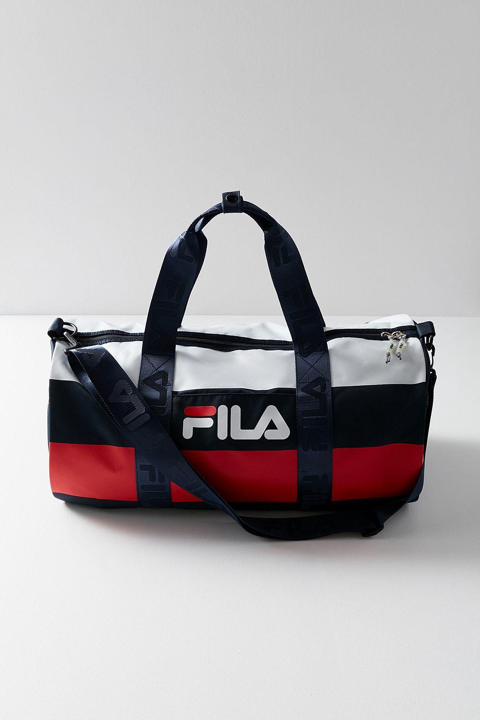 5a280bc08cbd5e Urban Outfitters Fila Major Stripe Duffle Bag - Navy One Size ...