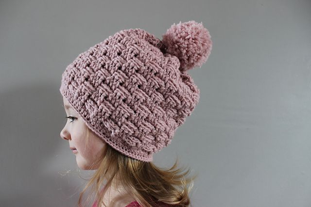 90f72e4b744 Ravelry  Little Basket Weave Hat pattern by Julie Lapalme ~ free pdf pattern  ~ Hat comes in sizes toddler