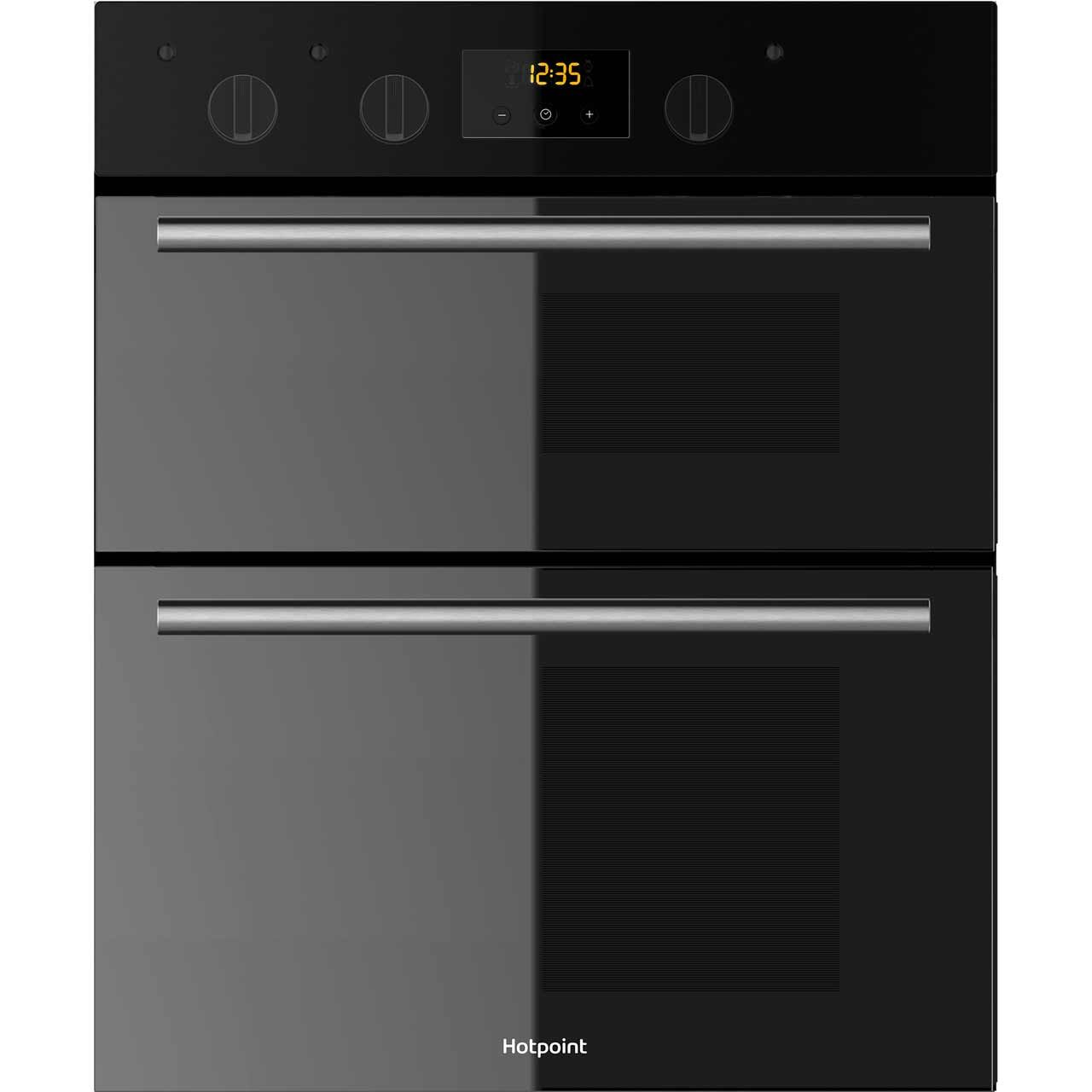 Medium image of du2540bl bk   hotpoint electric double oven   timer   ao com