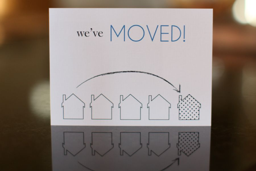 we ve moved announcement fargo cards and invitations lindsay