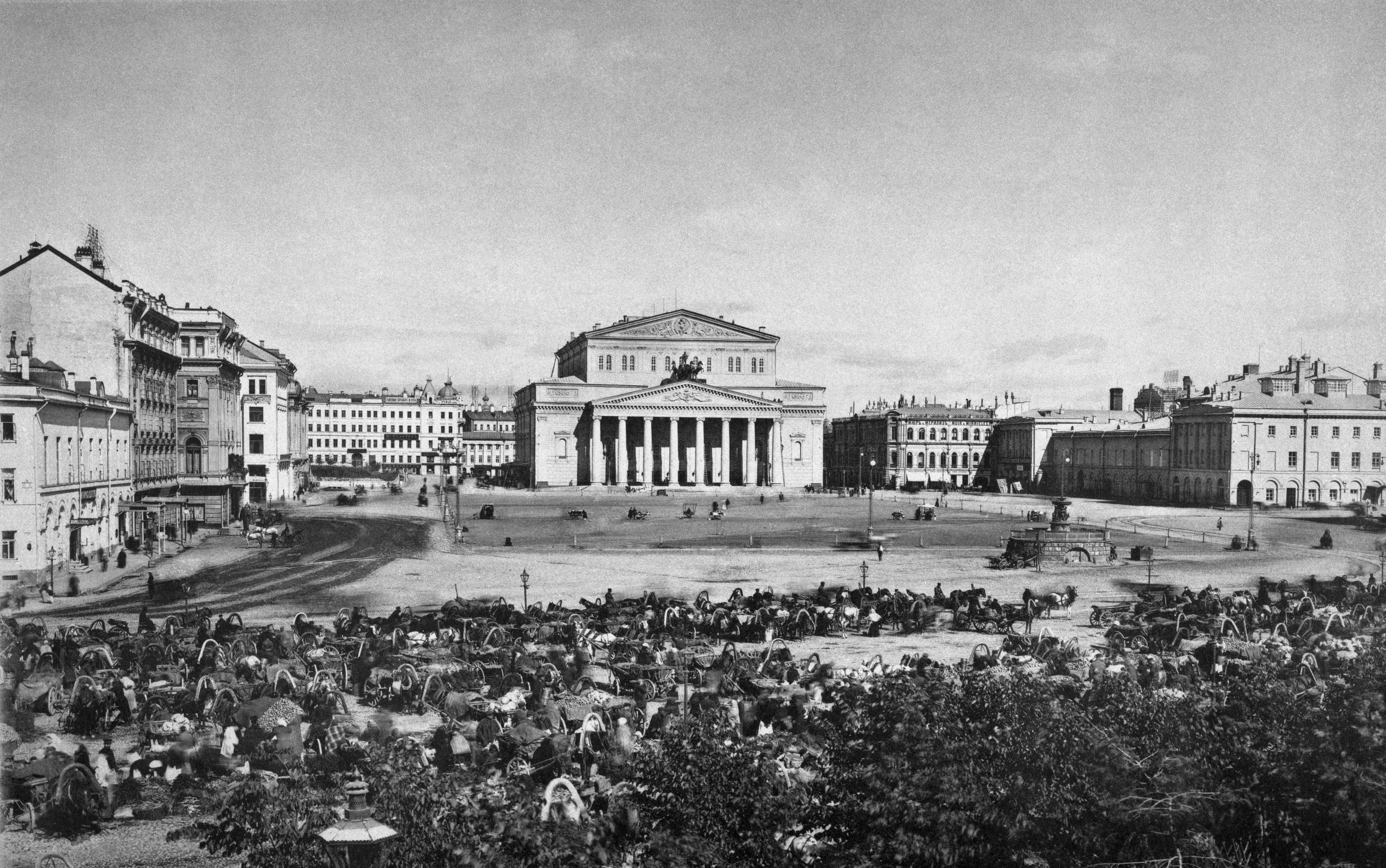 П.П. Павлов. Театральная площадь в Москве. 1891–1900-е гг.