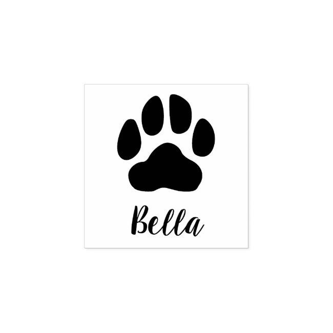 Personalized Pet Signature Paw Print Rubber Stamp  Cat person
