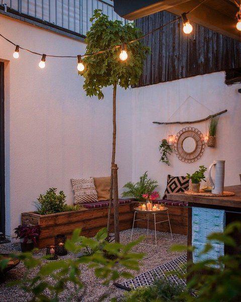 Gemütliches für Balkon und Terrasse am Tag und bei Nacht #balkonsichtschutz