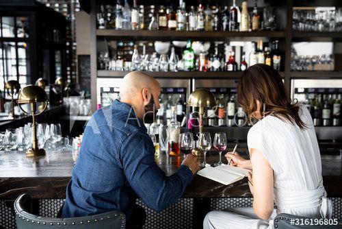 Couple wine tasting at wine bar #Ad , #affiliate, #wine, #Couple, #bar, #tasting